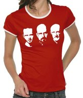 Walter Touchlines Girlie Ringer Ladies' Contrast T-Shirt Jesse Mike Faces Size:S