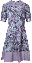 Manley Harper Leather Collar Dress - Snake Print & Lilac