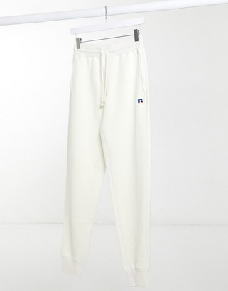 Russell Athletic fleece trackies in cream