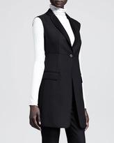 The Row Seamed Long Sleeveless Jacket