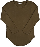 Mimobee Thermal-Knit Cotton T-Shirt-GREEN