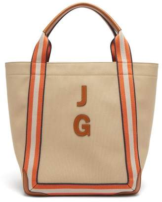 Anya Hindmarch Walton Customisable Canvas Tote Bag - Womens - Tan Multi
