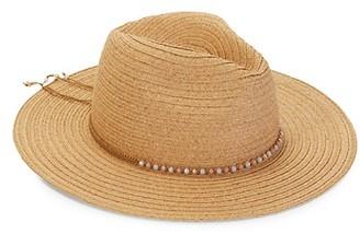 MARCUS ADLER Wide Brim Straw-Like Panama Hat