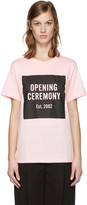 Opening Ceremony Ssense Exclusive Pink Box Logo T-shirt