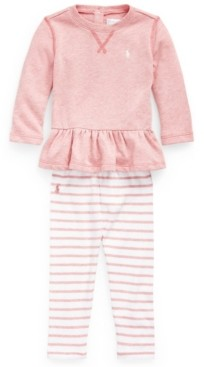 Polo Ralph Lauren Baby Girls Terry Top and Legging Set