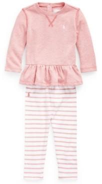 Polo Ralph Lauren Ralph Lauren Baby Girls Terry Top and Legging Set