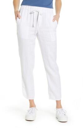 Caslon Track Style Linen Pants