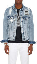 "Ksubi Men's ""Classic"" Distressed Cotton Denim Jacket"