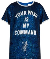 Ashish Sequin-embellished silk-georgette top