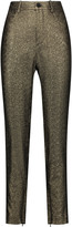 Isabel Marant Lauryn glittered cotton-blend straight-leg pants