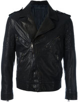 Neil Barrett biker jacket - men - Buffalo Leather/Cupro - L