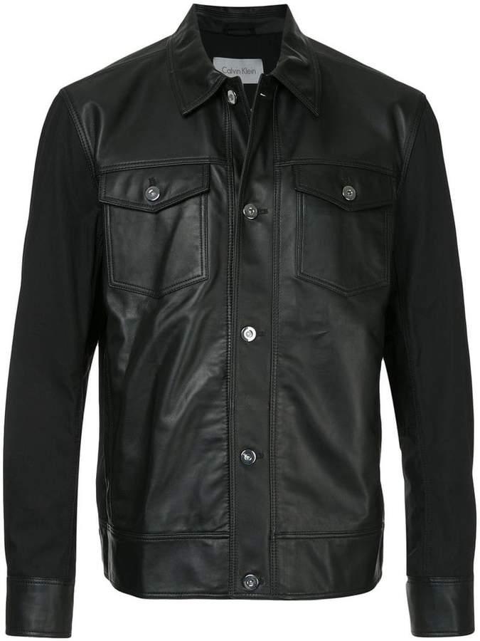 CK Calvin Klein panelled denim jacket