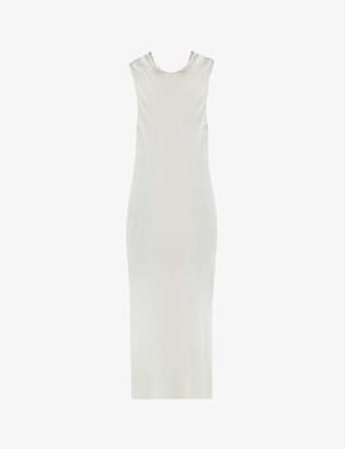 Symetria Core translucent silk maxi slip dress