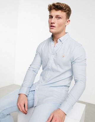 Farah Kreo slim long sleeve shirt