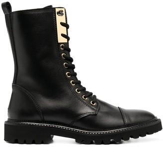 Baldinini Lace-Up Mid-Calf Boots