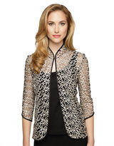 Alex Evenings Scalloped Two Piece Twinset