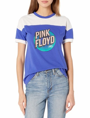 Pink Floyd Women's Short Sleeve Contrast Ringer T-Shirt-Juniors