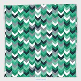 Vipsung Microfiber Ultra Soft Hand Towel-Chevron Arrow Symmetric Zig Zag Lines In Mix Featured Abstract Image Dimgrey Forest Green Seafoam For Hotel Spa Beach Pool Bath