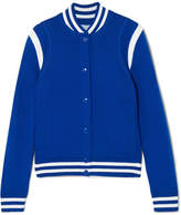Givenchy Embroidered Wool-blend Bomber Jacket - Blue