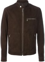 Salvatore Ferragamo zipped leather jacket