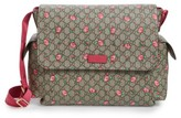 Gucci Infant Rose Gg Supreme Coated Canvas Diaper Bag - Brown