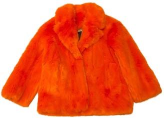 Diane von Furstenberg Orange Faux fur Coat for Women