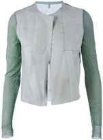 Aviù leather detail jacket