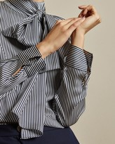 Ted Baker Tie Detail Striped Blouse