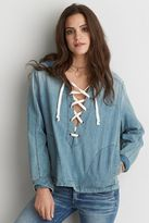 American Eagle Outfitters AE Lace-Up Anorak