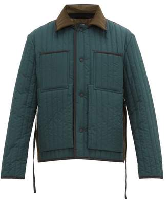 Craig Green Two-tone Quilted-panel Worker Jacket - Mens - Green