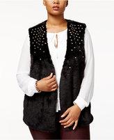 MICHAEL Michael Kors Size Faux-Fur Studded Vest