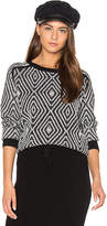 Shae Zig Zag Sweater in Black. - size L (also in )