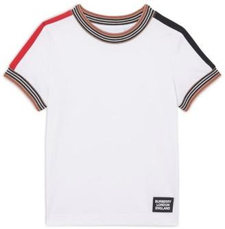 Burberry Kids Icon Stripe Trim T-Shirt (3-12 Years)