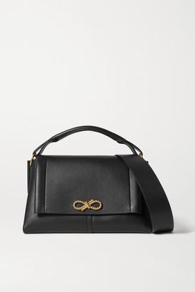 Anya Hindmarch Rope Bow Leather Shoulder Bag - Black