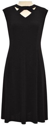 London Times Keyhole Fit & Flare Dress (Plus Size)