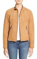 Bernardo Zip Front Suede Jacket