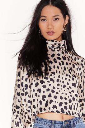 Nasty Gal Womens Don'T Spot Dalmatian Satin Blouse - White - 6