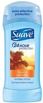 Suave 24 Hour Protection Tropical Paradise Invisible Solid Anti-Perspirant Deodorant, 2.6 Ounce