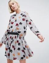 Ganni Bartlette Floral Sheer Georgette Blouse