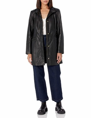 Cole Haan Women's Leather Collarless Jacket
