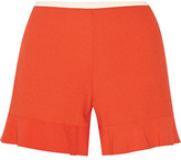See by Chloe Fluted Stretch-Crepe Shorts