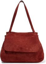 The Row Sidekick Suede Shoulder Bag - Red