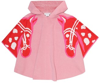 Stella McCartney Kids Intarsia cotton and wool cape