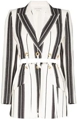 Alexander McQueen Striped Cut-Out Blazer