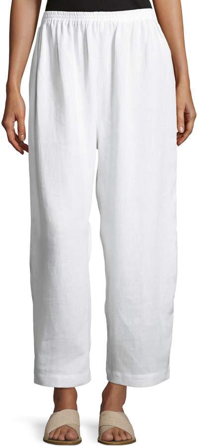 eskandar Japanese Wide-Leg Cropped Trousers