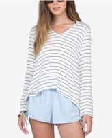 Volcom Juniors' Cotton Striped Hoodie