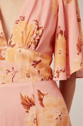 Keepsake FOREVER MINI DRESS tan gardenia