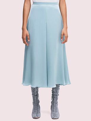 Kate Spade Silk Charmeuse Midi Skirt
