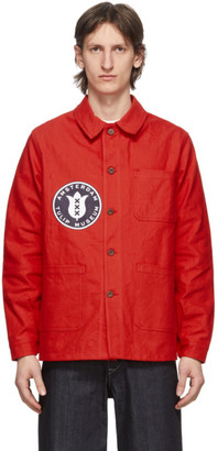 Junya Watanabe Red Le Laboureur Edition Tulip Patch Work Jacket