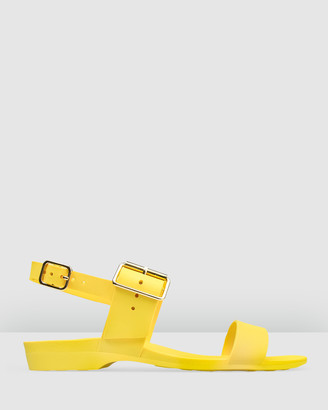 Bared Footwear - Women's Yellow Sandals - Sanderlings Flat Sandals - Women's - Size One Size, 36 at The Iconic